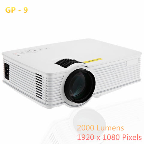 GP9 2000 Lumens LED Projetor Full HD 1080P Portable USB Cinema Home Theater Pico LCD Video Mini Projector Beamer GP-9 Projectors