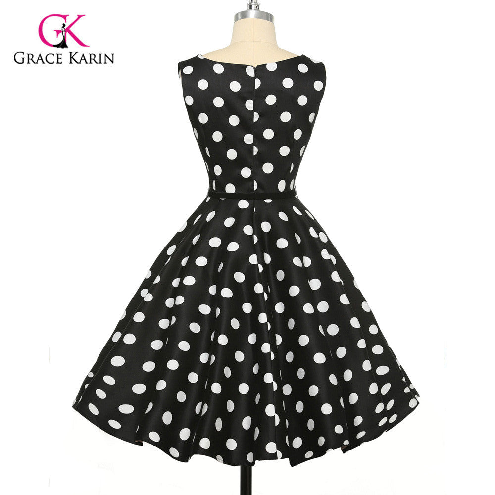 5a7efc0c3a1 ... Grace Karin Womens Cocktail Dresses Summer style Floral Print Retro  Vintage 50s Casual Party Rockabilly Dress ...