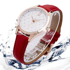 Guote Leather Quartz Alloy Quartz Wristwatches Women Sb0290