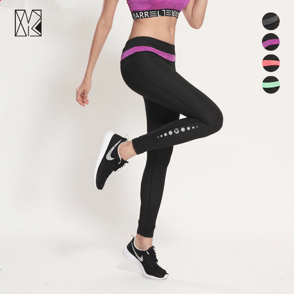 Gym Spliced Tights Running Pants Fitness Sport Leggings Women Sweatpants Lady Sports Pants Soft Joggers Pants Yoga Trousers