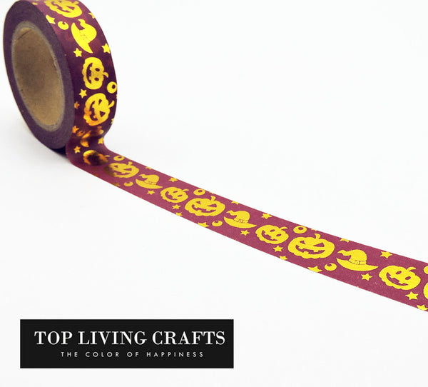 Halloween Pumpkin Washi Tape Japanese Stationery 1.5*10meter Kawaii Scrapbooking Tools Masking Tape Adhesiva Decorativa