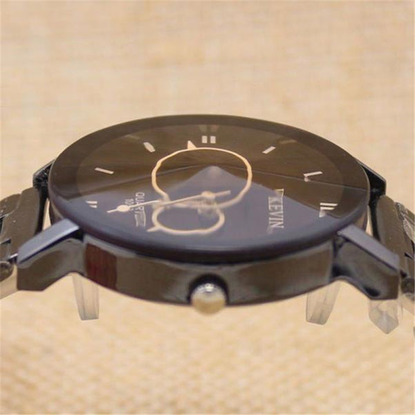 Hcandice Stainless Steel Quartz Alloy Quartz Wristwatches Men Relogios Feminino