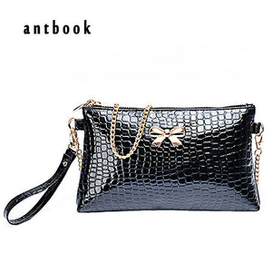 Antbook Appliques Stone Pu Handbags Women Brand New