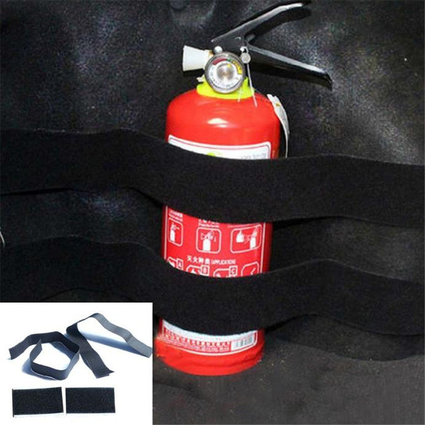 High Quality 2pcs Car Trunk store content bag Rapid Fire extinguisher Holder Safety Strap Kit