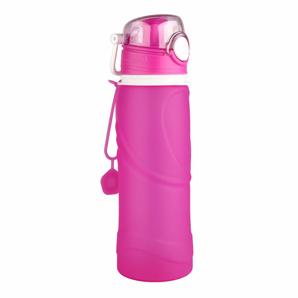 High Quality 750ML Portable Foldable Leakproof Water Bottle Kettle Cup Outdoor Sport Camping Silicone Folding Water Bottle -35
