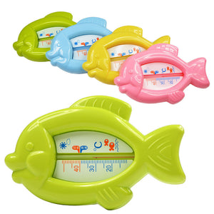 High Quality Baby Floating Fish Water Thermometer Plastic Float Bath Toy Tub Sensor 10-50C VCF73 P50