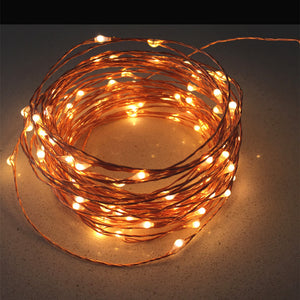 High Quanlity 20M 66ft 200 Leds Copper Wire LED String Light Starry Lights Includes Power Adapter (US EU Plug)