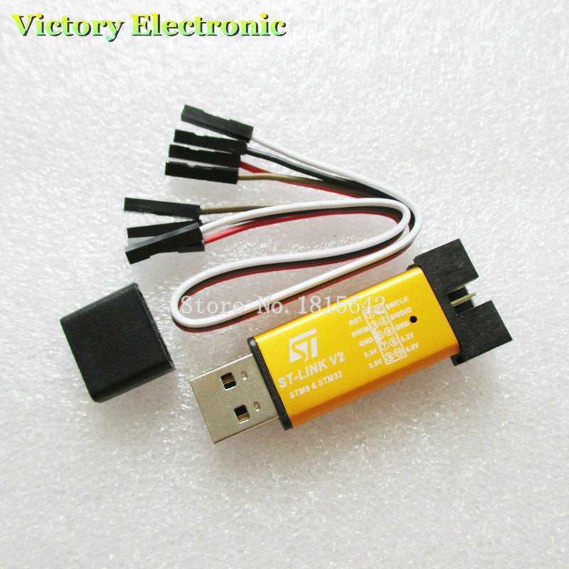 Hot Sale 1PCS ST LINK Stlink ST-Link V2 Mini STM8 STM32 Simulator Download  Programmer Programming With Cover