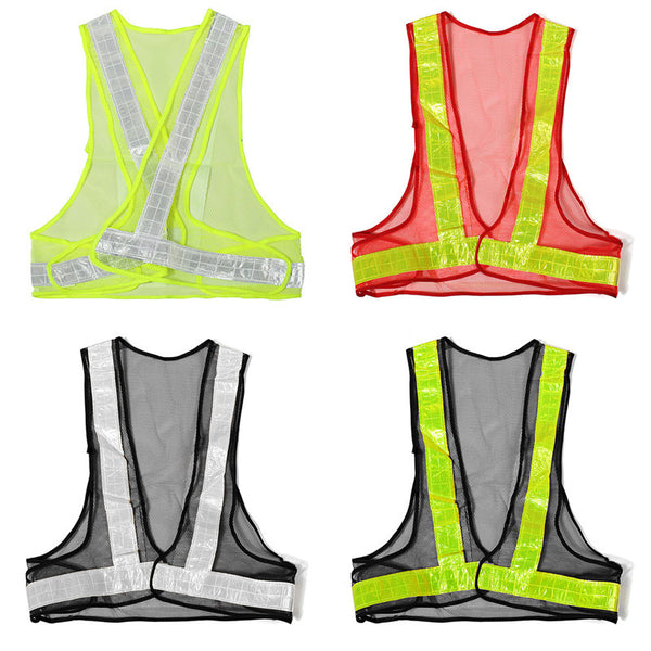 Hot Sale Outdoor High Visibility Reflective Vest Warning Traffic Construction Safety Security Gear Labor Clothes Mesh