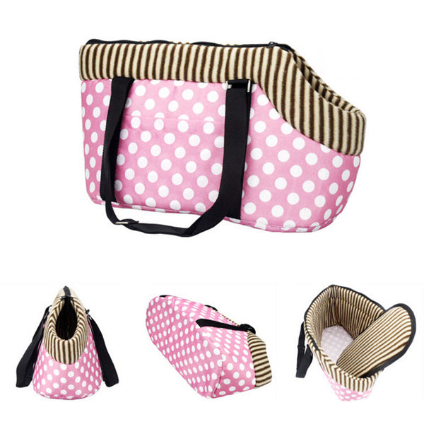 Hot Sale Pet Dogs Carrier Bag Leopard Dots Printed Small Dog Bag Handbag Pet Carrier Travel Carrying Bag Handbag Cat Carrier