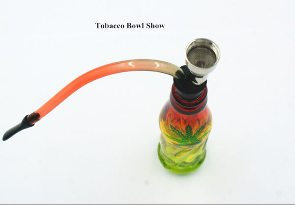 Hot sale small colorful glass smoking water pipe tubes chinese tobacco pipes pieces shisha hookah chicha narguile gadgets