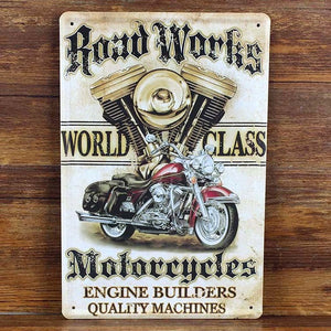 Hot sales motorcycle Tin signs Retro decoration House Cafe bar Vintage Metal plaque Painting Poster decor 20X30 CM Free shipping