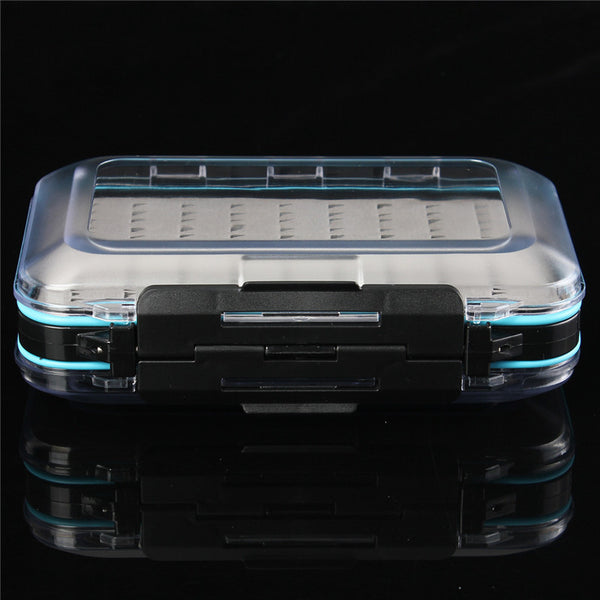 Hot selling 150x95x42mm Plastic Waterproof fly fishing Lure Bait Double Side Clear Slit Foam BOX Tackle Case