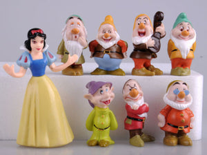 Hot Snow White and the Seven Dwarfs Figures Cake Topper Kids Gift 8pcs