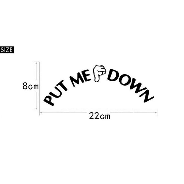 JY 14 Mosunx Business 2016 Hot Selling Gesture Hand Decal Funny Bathroom Toilet Seat Wall Sticker Sign for PUT ME DOWN