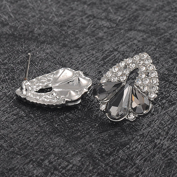 Kaimei Gong Trendy Zinc Alloy Crystal Stud Earrings Women Dyf1001