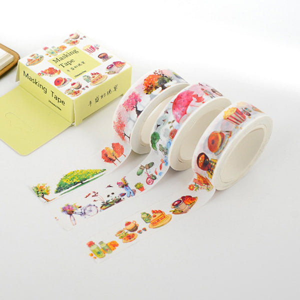 Kawaii Decorative Adhesive Tape Washi Cute DIY Scrapbooking Masking Tapes School Office Supply Escolar Papelaria
