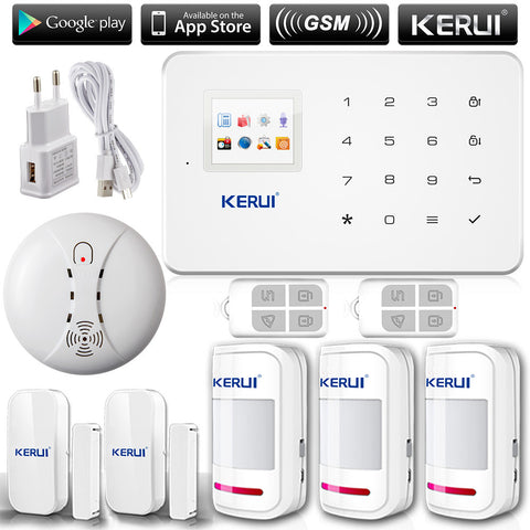 KERUI G18 English Russian Voice GSM Autodial Home Security Alarm System+iOS App Android App Sensor Alarm Security System home
