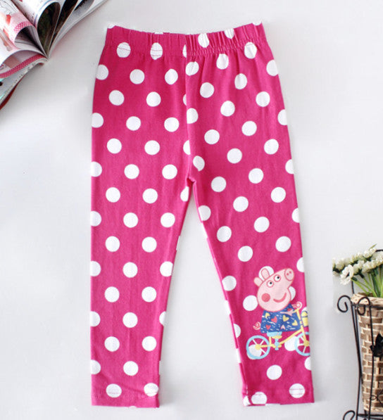 kids pants girl clothing pants fashion spring girls leggings cartoon pig children pants for girls casual leggings 2 6Y clothing