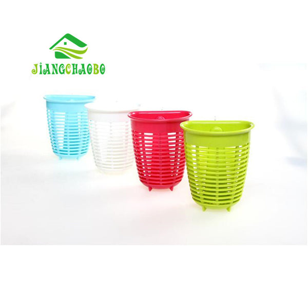 Kitchen Storage Toothbrush Toothpaste Holder Sucker Suction Wall Hanging Basket Of Small Objects Wall Type Storage Basket