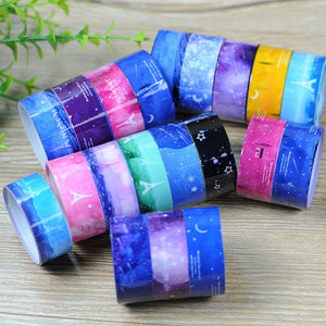 Korea Stationery Nebula Kawaii Washi PVC Roll Tape DIY Decor Scrapbooking Sticker Galaxy Masking Tape Adhesive Franch Style
