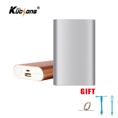 KuChong Portable Charger 8800 mAh External Battery Pack Power Bank + led light + fan + phone ring holder Fast Shipping