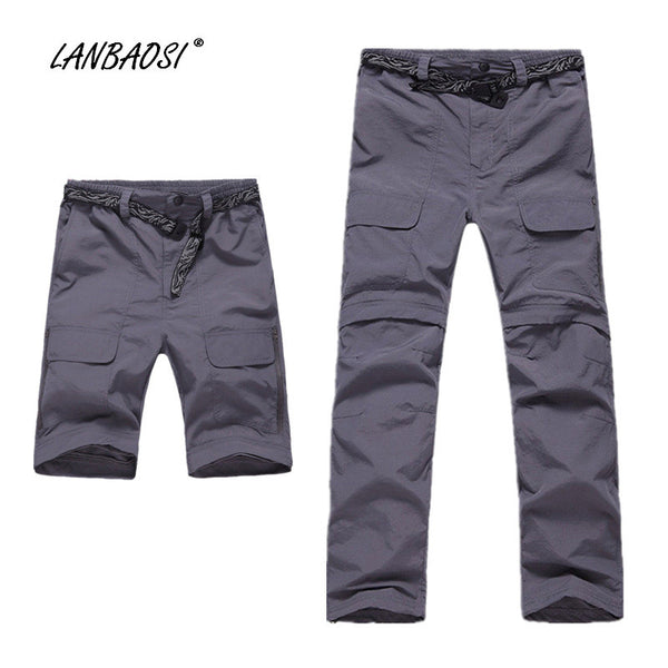 LANBAOSI Men's Lightweight Quick Dry Convertible Pants Waterproof Army Green Khaki Hiking Trekking Climbing Outdoor Sports