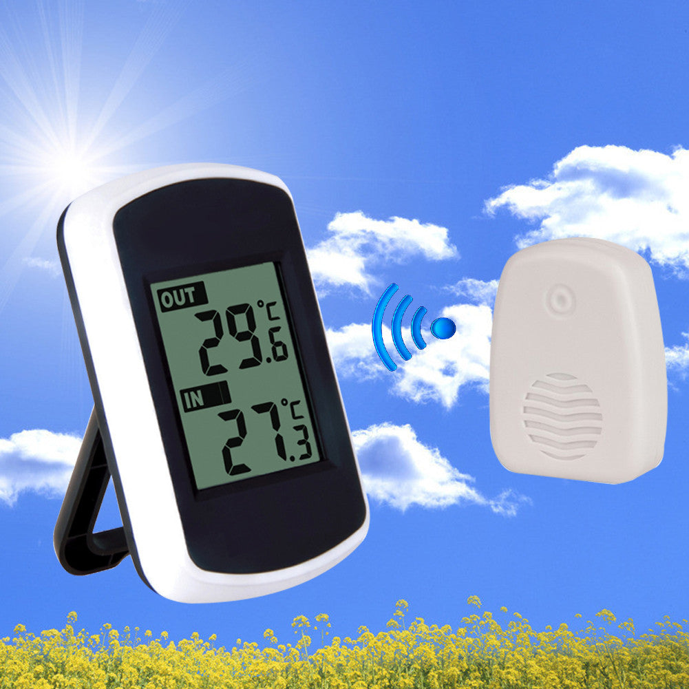 LCD Digital Ambient Weather Wireless Thermometer Hygrometer Electronic Temperature Humidity Meter Weather Station Indoor Outdoor