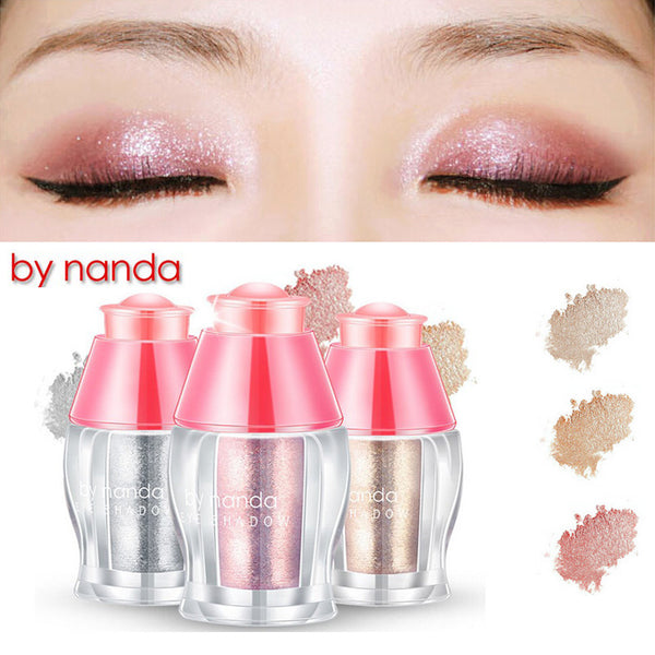 Loose Shimmer Eyeshadow Pigments Eyes Face Highlighter Powder Makeup 3 Colors glitter white champgne gold rose gold