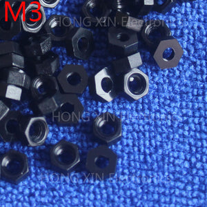 M3 1 pcs black nylon hex nut 3mm plastic nuts RoSH Hexagon PC Electronic accessories Tools etc