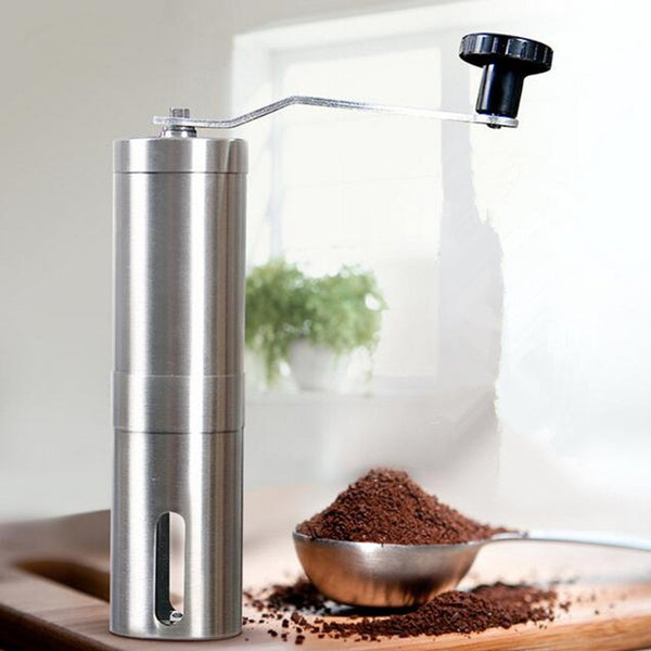 Manual Coffee Grinder Coffee Maker ceramics Core 304 Stainless Steel Hand Burr Mill Grinder Ceramic Corn Coffee Grinding Machine