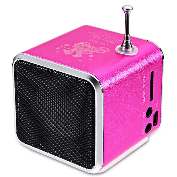 Mini Portable Radio Speaker With LCD LED Display Support Micro SD TF Music Player Digital FM Compatible With Laptop Phones