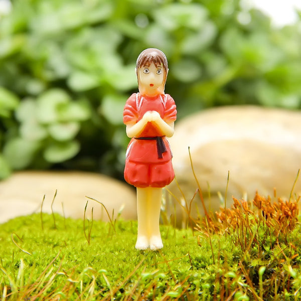Miyazaki Hayao Spirited Away girl No Face Man PVC Action Toy Figures Studio Ghibli Japanese Anime Cartoon Micro Landscape Kawaii