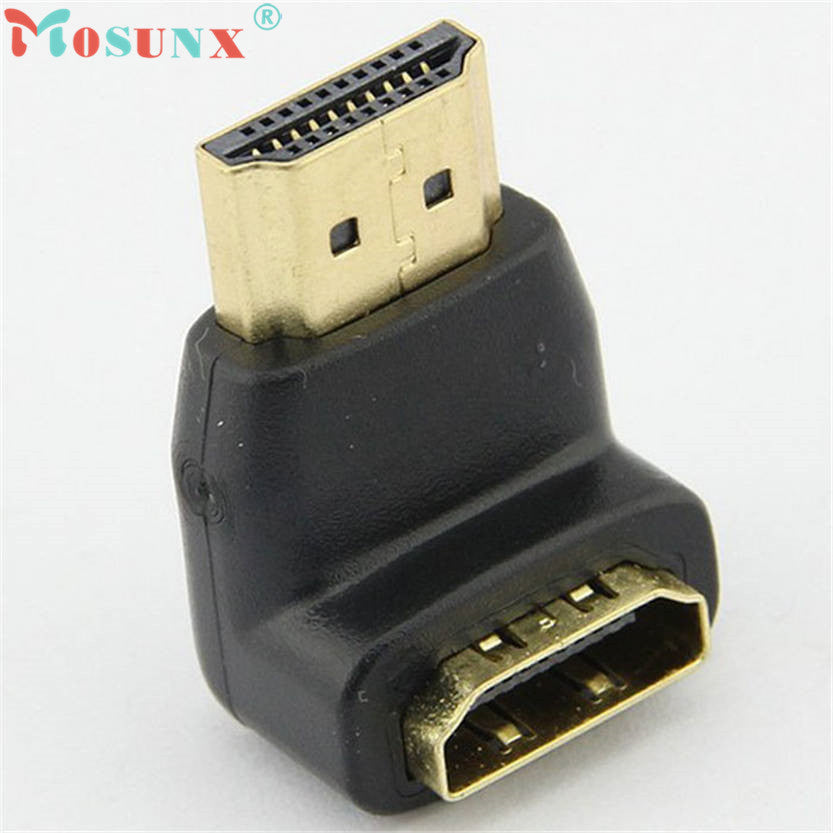 Mosunx New Connector for 1080p LCD TV Mini Elbow HDMI Male to Female Adapter Oct 07