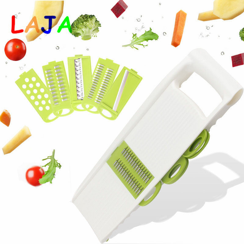 Multifunctional Stainless Stee Qiecai 5 Sets Shredder Slicers Into Strips Device Grater Cut Potatoes Carrot Cucumber Wire K0032