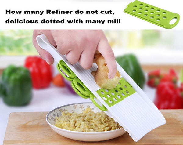 Multifunctional Vegetable cucumber Slicer with 4 Interchangeable Stainless Steel Blades -Vegetable Cutter Peeler Slicer Grater