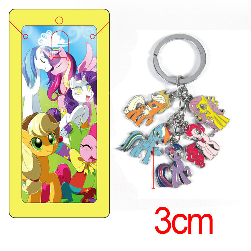 My Pony figure model toys keychain High quality Zinc Alloy New Anime dolls Gift collection key chains pendant