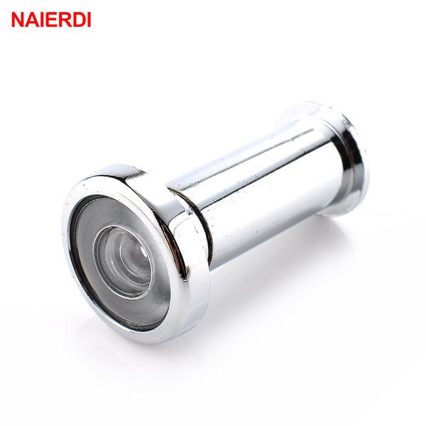 NAIERDI Deluxe 180Degree Wide Angle Peephole Door Viewer Door Spyphole View Gold Chrome-plated For Furniture Hardware