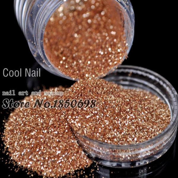 Nail Art Glitter Powder Dust For UV GEL Acrylic Powder Decoration Champagne Gold DIY Tips Material Makeup Glitter N45