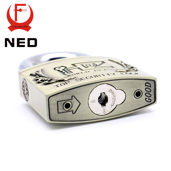 NED C6 Serie Super B Grade Brass Padlocks Long Shackle Anti-Theft Rustproof Travel Luggage Suitcase Gate Lock Security Padlock