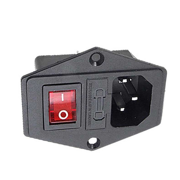 New 10a 250v Inlet Module Plug Fuse Switch Male Power