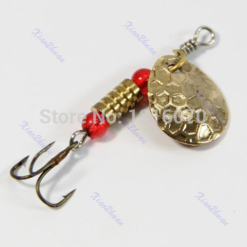 - New 1pcs 45mm 3g Fishing Lures Treble Hook Paillette Bait