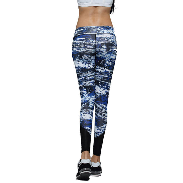 New 2015 Womens Pants Yoga Running Sports Elastic Female Tights Ladies Trousers Woman Sports Leggings Fitness Print Pants