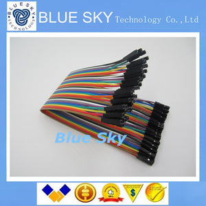 new 40pcs in Row Dupont Cable 21.5 cm 2.54mm 1pin 1p-1p Female to Female Jumper Wire for Arduino Wholesale