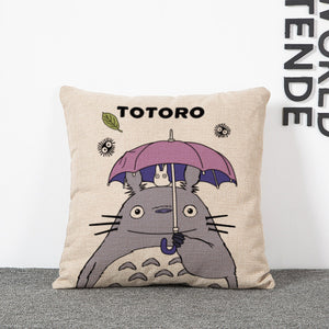 new 45*45cm My Neighbor Totoro creative anime pillowcase office Wedding bedding couch Vintage pillow case cover home decorative