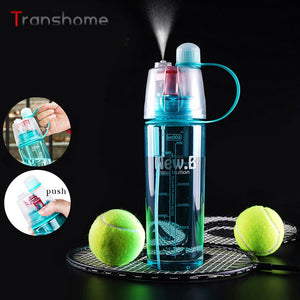 New Arrival Sports Spray Water Bottle Dual-use Bpa Free Plastic Bottles For Water Fashion Space Cups 0.6L 0.4L Transhome
