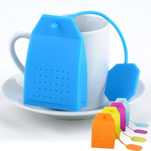 New Bag Style Silicone Tea Strainer Herbal Spice Infuser Filter Diffuser Kitchen Free Shipping (Random Color)