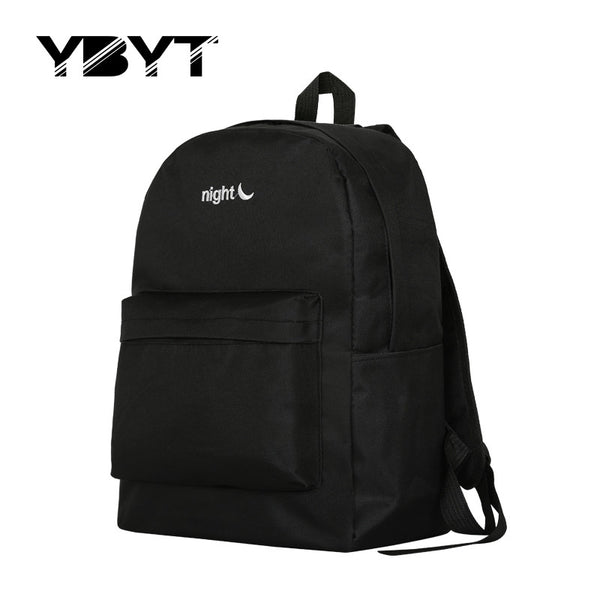Ybyt Letter Solid Canvas Backpacks Women 0074