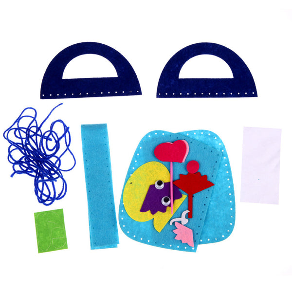 New Creative Handmade Handbags Non-woven Cloth kids Crafts Cartoon Toys Creative Gifts Puzzle Bag FCI#