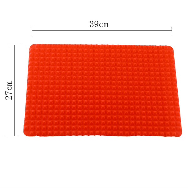 New Creative Useful Pyramid Pan Silicone Non Stick Fat Reducing Mat Microwave Oven Baking Tray Sheet